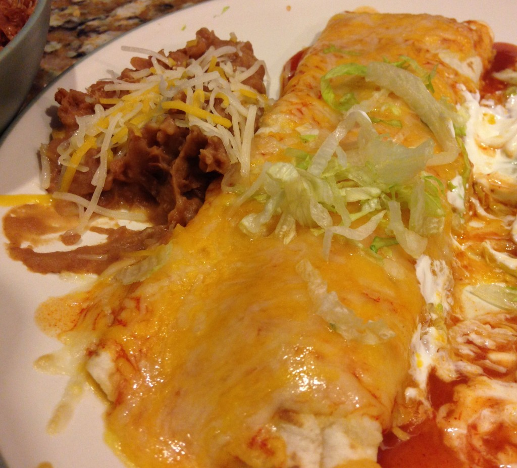 Homemade Crock Pot chicken Enchiladas
