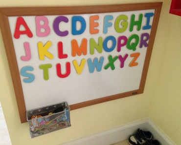 Toddler magnetic alphabet board