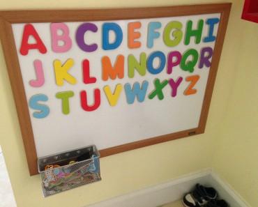 Toddler magnetic alphabet board