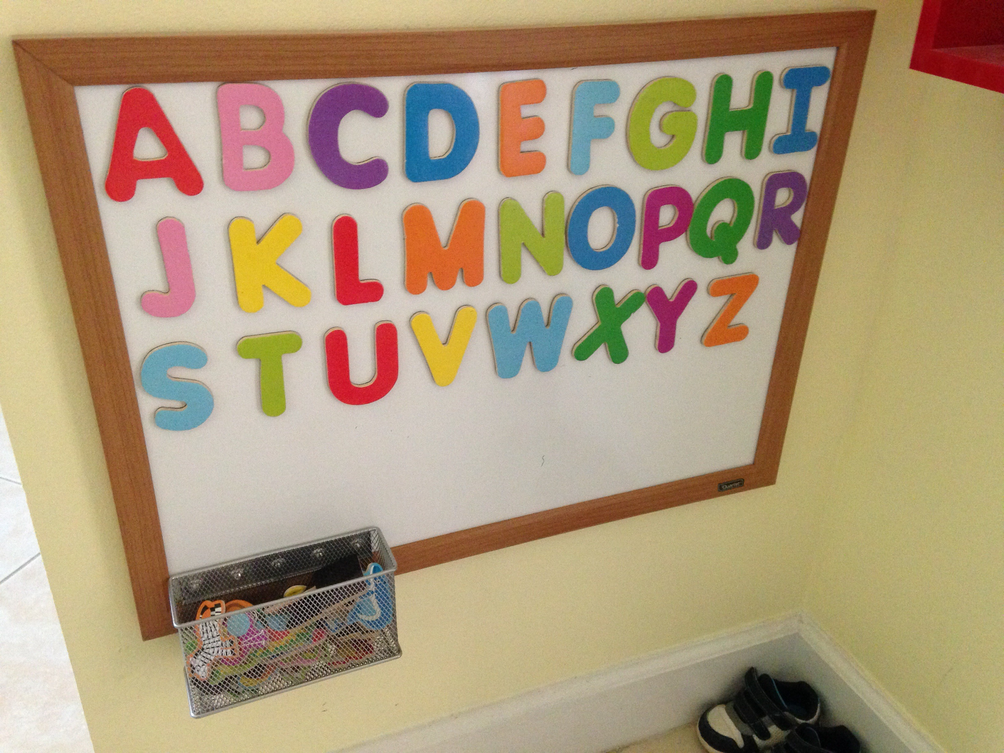Diy Magnetic Alphabet Board For Your Toddler Dad The Mom