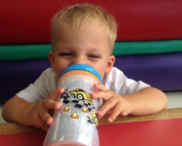 Ollie with Sippy Cup