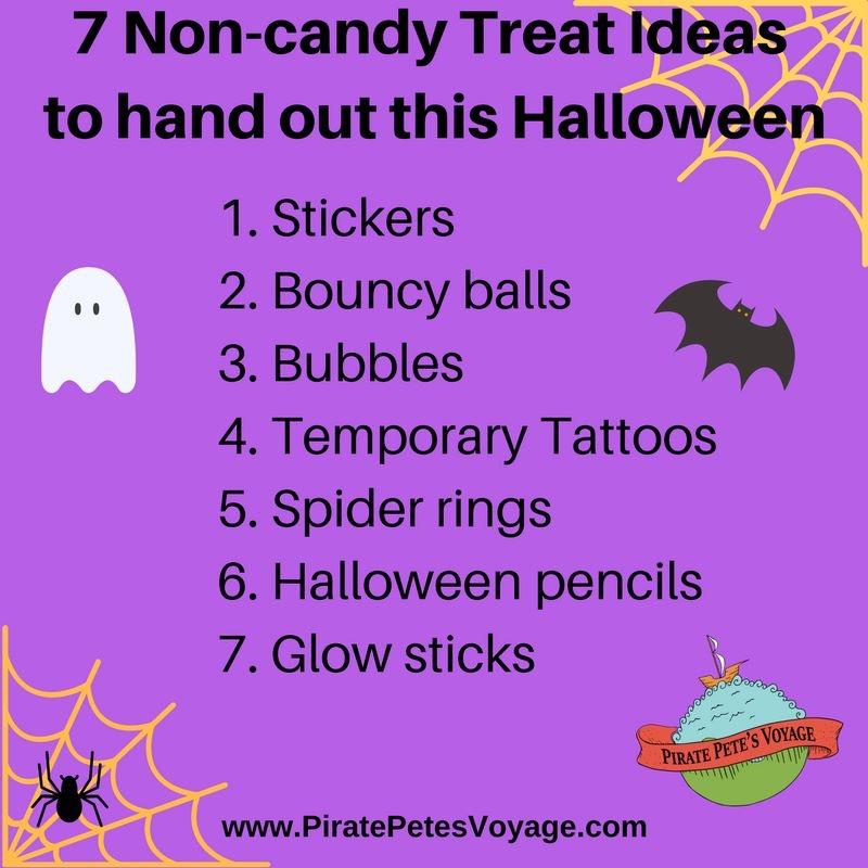 Healthy Halloween Treat list
